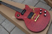 Wholesale Guitar Wavy - OEM Factory 2015 Custom Solid 6 Strings red wavy top Electric Guitar Best Selling Free Shipping