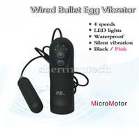 Wholesale Girl Egg Vibrators - Wired super silent micro motor mini vibrator bullet egg sex toy for girls masturbation