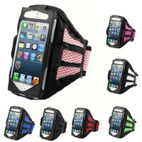 Wholesale Armbands S3 - Reticular Sports Running Armband Case For Apple iPhone 6 6G 6+ Plus 4 4S 5 5S 5C Samsung galaxy S3 S4 S5 Note 2 3 4