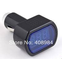 Wholesale car battery meter tester resale online - DC V V LED Display Cigarette Lighter Electric Voltage Meter tester For Auto Car Battery
