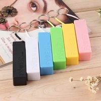 Wholesale Battery Case Iphone Usb - NEW USB 18650 Battery Charger Portable Mobile Power Bank Case Box Cover KeyChain for iPhone for Samsung for MP3