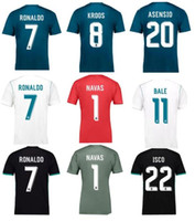 Wholesale Wholesale Real Madrid - 2017 2018 Real Madrid home away third RONALDO BENZEMA BALE KROOS SERGIO RAMOS MODRIC ISCO NAVAS ASENSIO soccer jersey football DHL shipping