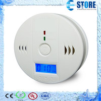 Wholesale Detector Home Safety Alarm - CO Carbon Monoxide Detector Smoke Home Alarm Safety Gas Fire Poisoning Warning Alarm Sensor Battery Operated Alert LED Display