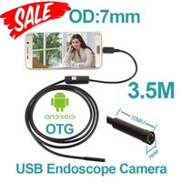 Wholesale Mp Endoscope - 7mm len Android USB Endoscope Camera Flexible Snake USB inspection Pipe Camera IP67 Waterproof micro USB Android endoscope Camera