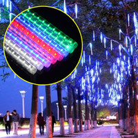 Wholesale Decoration For Plug - 2015 Christmas Decoration 30CM Shower Rain Meteor Tubes waterproof LED Light For Party Wedding Garden Decoration 100-240V EU and EU Plug