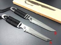 ingrosso coltelli per maniglie di corda-Drop shipping Colombia 2310 piccolo coltello dritto lama fissa manico corda maniglia coltello EDC utensili da taglio campeggio all'aperto