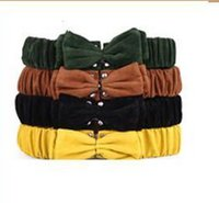 Wholesale Colorful Stretch Belts - NEW Design fashion Style colorful bow Stretch ELASTIC Womens Sexy Wide Belt