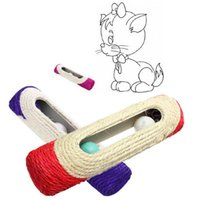 Gatinho Atacado-New Arrivals Cat Pet Kitty Toy Longo rolamento Sisal Coçar Post 3 Rolo Toy # G01066