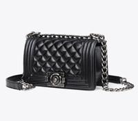 Wholesale Le Purse - 2 SIZE 2018 new hot BLACK LAMBSKIN LE women SHOULDER BAGS PURSE high quality Women messenger Bag Famous Designer Brand Women handbag