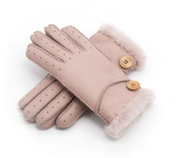 Wholesale Best Leather Gloves - Sell Well Russian Women Winter Warm Gloves Best Gifts For Families Leather Gloves Keep Hands Warm Outdoor Women's Winter Ski Gloves