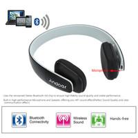 écouteurs bluetooth achat en gros de-Andoer F1 Over-the-head Sans Fil Bluetooth 4.0 Écouteur Casque Stéréo Casque Pliant avec Micro pour iPhone Samsung LG HTC