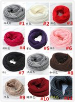 Wholesale Lycra Modal - Newest Women Winter Warm Infinity Knit Cowl Neck Long scarf Shawl infinity Scarf DHL free shipping 20PCS LB14