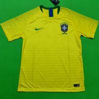 Wholesale G Kits - Top thailand AAA quality 2018 Brazil soccer jersey Brasil 2018 football kit soccer shirt National NEYMAR JR COUTINHO G JESUS soccer jerseys