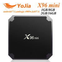 Wholesale google androids for sale - Genuine X96 MINI Android TV box Amlogic S905W Quad Core GB GB GB GB TV Boxes Smart TV