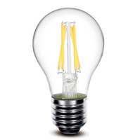Wholesale Led Globe 6w Cool White - E14 E27 B22 4w 6W Dimmable filament lamp 450lm A60 e27 led filament bulb 360 Degree led bulb
