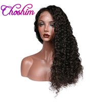 Wholesale Free Wigs For Women - Choshim Slove Hair 360 Lace Frontal Wig For Black Women 150% Density Pre Plucked Brazilian Silky Deep Wave Human Remy Hair