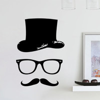 Wholesale Moustache Stickers - Moustache Vinyl Wall stickers wall decal Art Home Decor