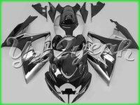Wholesale Custom Fairings For Motorcycles - High Quality Custom silver black Fairing kit for SUZUKI GSXR600 750 06 07 K6 GSXR600 GSXR750 2006 2007 Motorcycle Fairings bodywork