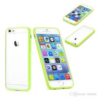 iphone match venda por atacado-Transparente caso bumper perfeito colorido tpu + pc correspondência fina case para iphone 6 4.7