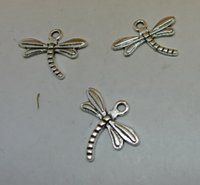 Wholesale Dragonfly Bags - Dragonfly 300 pc  bag of 0.5 grams of 18x15mm antique silver colour alloy bead jewelry accessories wholesale