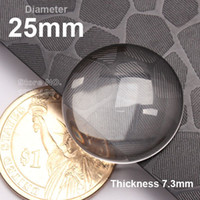 Wholesale Transparent Cabochon 25mm - 1 Inch Glass Cabochon 25mm Crystal Clear Cabochons Transparent Round Shape Glass Cabochons 1 Inch Clear Glass Domes 100pc