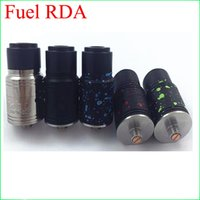 Wholesale E Cigarette Atomizer Uk - Newest Fuel RDA Rebuildable Drippping Atomizers 2 post Design Slanted Airflow PEEK Insulator fit 510 E Cigarette Mods DHL Free to USA Uk