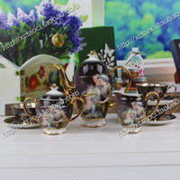 Wholesale-Fashion Bone China Kaffeetasse gesetzt Kaffeegeschirr Keramikwohnaccessoires Handwerk Dekoration