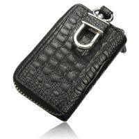 Wholesale Bumping Keys - Hot Car Key Wallets Women Men Faux Leather Keychain Holder Bag Keys Purse Case High Quality 4 Colors Bump Texture Portable