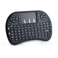 телешоу google оптовых-Fly Air Mouse Rii Mini i8 2.4 GHz беспроводная клавиатура QWERTY с сенсорной панелью для ПК PadNotebook Google Android TV Box Xbox360 PS3 HTPC/IPTV