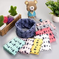 Wholesale blue scarf white polka dots for sale - Group buy Hot Sale Baby boys girls smile scarf Children s ring autumn and winter New Fashion scarf kids stars Scarves Wraps color for choose