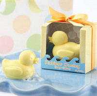 Wholesale Ducky Baby Shower Favors - FREE SHIPPING+Lovely Design Rubber Ducky Soap Favors Soap Gift for Baby Shower Favors+100pcs lot