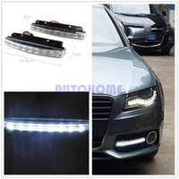 5 x White Car 12V DC Head Lamp Daytime Running Licht 8 LED DRL Daylight Kit bestellen $ 18no Track