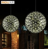 CE spanish hotels - Spanish Sphere Lights CM Modern Creative Stainless Steel Pendant Lamps With LED lights For Fastion Home and Room Decoration