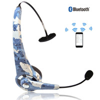 Wholesale Skype Headset Wireless - New arrival Wireless Bluetooth camouflage style Gaming Headset Headphone Earphone MIC Handsfree Hi-FI Noise Cancelling Games for PS3 Skype