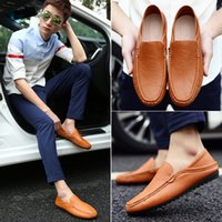 Consiglia Two Styles Slip-on Shoe Tide Uomo Fondo morbido Urban Driving Shoes Moda Uomo Outdoor Piselli Scarpe primavera autunno ZC08