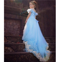 organic prom dresses - long princess prom dress cinderella dress costumes cosplay lace embroidery dress cinderella ball gown for girls