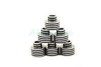 Wholesale Ecig Adapters - Heat Sink Drip Tip Atomizer Adapter Heatsink Adaptor 510 Thread Bottom Attached 510 thread Heat Dissipation Mouthpieces for Ecig RDA RTA RBA
