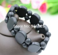 Wholesale Bianchi Women - Wholesale-High Quality Black Sinbin bian stone Bianchi stone Carve Natural Black Stone Bracelets Energy Healthy Charm For Men and Women