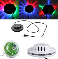 Wholesale Magic Finger Lights - New Transparent black white Sunflower LED Light Magic 7 Colors 48 LEDs auto Voice Activated LED RGB Stage Light for Disco Stage home party
