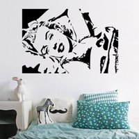 Le sommeil de Marilyn Monroe Pose Wall Art Mural Decor Sexy Monroe Chambre Wall Decal Poster DIY Accueil Art Sticker Applique