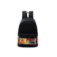 Wholesale 2015 New Fashion Graffiti Printing Unisex Canvas Rucksack School Bag Casual Woman Travelling Backpacks For Teenage Students WI49