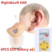 Wholesale Digital Ear Hearing Aids - Hot Sale cofoe invisible Hearing Aid Portable Small inner Ear Invisible Best Sound Amplifier digital Hearing Aids Right Ear