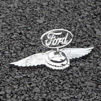 Wholesale 3m hood - 3D Metal Front Hood Ford Logo Car Bonnet Badge 3M tape Stickers For Toyota Buick Nissan Volkswagen