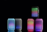 Wholesale Free DHL Wireless Bluetooth Mini Speaker MY500BT subwoofer HIFI speaker with colorful LED light Support USB TF Card hadfree