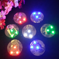 Wholesale Led Bottle Coasters - Wholesale LED Flashing Bottle Coaster Sticker For Bar Night Club Bottle Party Decoration DHL Fedex Free shipping