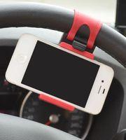 Wholesale Note Bike - Car Streeling Steering Wheel Cradle Holder Clip Car Bike Mount for iPhone 5 6 6 plus Samsung s5 S4 NOTE 2 GPS 100pcs