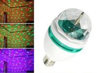 diğer kristal toptan satış-Led RGB aydınlatma 3 W Kristal Sahne Işık Sihirli Topu E27 renk Otomatik Döner Sahne Etkisi DJ Lambası mini Sahne Ampul LED'LER