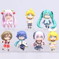 Wholesale Hatsune Luka - wholesale 7pcs Hatsune Miku Luka Kagamine Rin Len pvc action figure dolls for kids anime toys