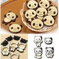 Wholesale Modeling Cake Pastry - 4 pcs 1 Set Cute Panda Pattern Cake Cookie Bread Mold Mould Biscuit Modeling Cutter Pastry Baking Tool