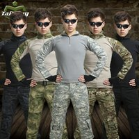 Wholesale Military Combat Uniforms - 11 colors hunting clothing airsoft camouflage suit military unfirom paintball equipment military clothing combat shirt uniform